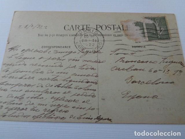 Postales: FRANCIA. PARIS. VISTA GENERAL DE LA CIUDAD DESDE NOTRE DAME. POSTAL CIRCULADA 1922 - Foto 2 - 163812134