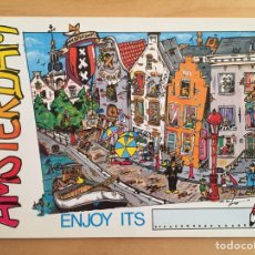 Postales: AMSTERDAM. THE CITY WHERE EVERYTHING HAPPENS! (POSTAL). Lote 165153181