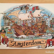 Postales: AMSTERDAM. SAILIN' THE CANALS (POSTAL). Lote 165155909