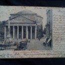 Postales: ANTIGUA POSTAL ITALIANA DEL PANTEÓN DE AGRIPPA CIRCULADA EN 1900 SIN DIVIDIR. Lote 165244050