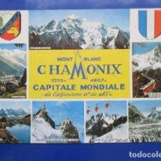 Postales: 6900 FRANCIA FRANCE HAUTE SAVOIE CHAMONIX MONT-BLANC CAPITALE MONDIALE DE L'ALPINISME ET DU SKI 1979. Lote 165679890