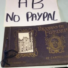 Postales: ANTIGUO ÁLBUM POSTALES FOTOTIPIA RECUERDO DE FLORENCIA FIRENZE ALTEROCCA LIBRILLO CON 20 UNIDADES. Lote 165706116