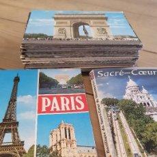 Postales: LOTE 101 POSTALES ANTIGUAS DE PARIS. Lote 166152706