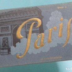 Postales: TACO O LIBRO CON 12 ANTIGUAS POSTALES DE PARIS. 12 VUES DETACHABLES. LEVY ET NEURDEIN REUNIS.. Lote 166203782