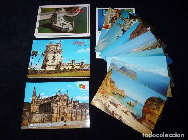 LOTE DE ÁLBUMES Y POSTALES DE PORTUGAL (39 POSTALES), AÑOS 60-70 (Postales - Postales Extranjero - Europa)