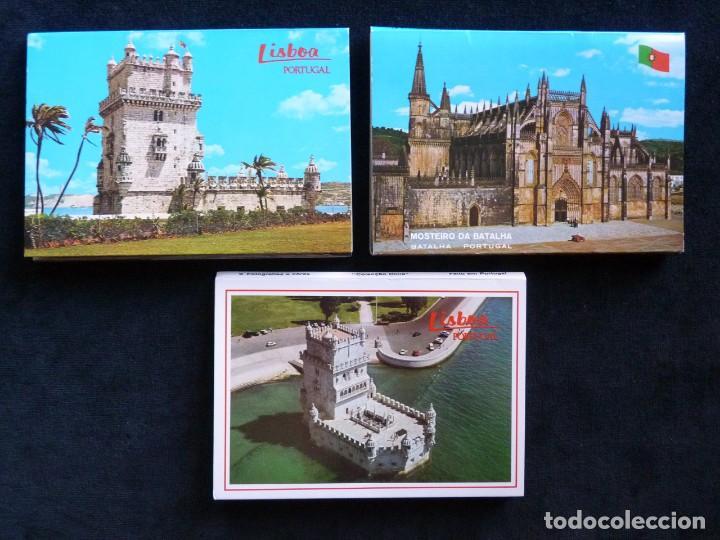 Postales: LOTE DE ÁLBUMES Y POSTALES DE PORTUGAL (39 POSTALES), AÑOS 60-70 - Foto 2 - 166348746