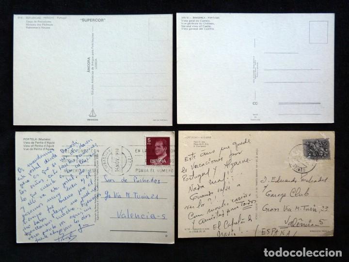 Postales: LOTE DE ÁLBUMES Y POSTALES DE PORTUGAL (39 POSTALES), AÑOS 60-70 - Foto 4 - 166348746