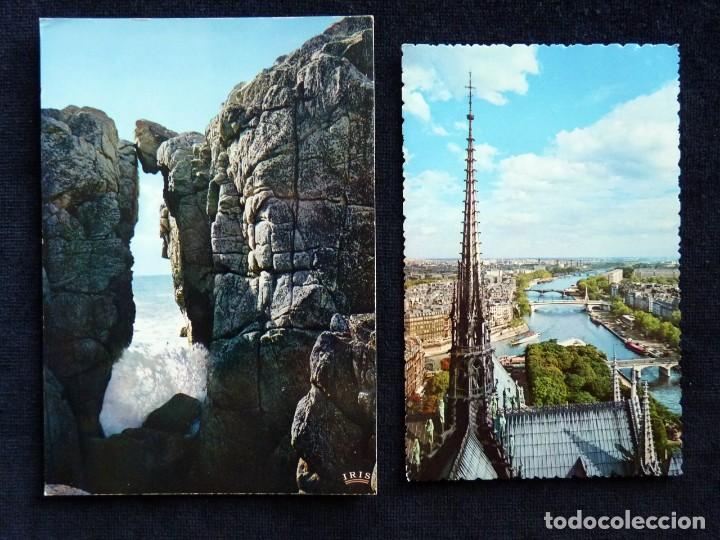 Postales: LOTE DE 20 POSTALES DE FRANCIA. AÑOS 60-70 - Foto 2 - 166348862
