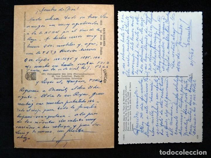 Postales: LOTE DE 20 POSTALES DE FRANCIA. AÑOS 60-70 - Foto 3 - 166348862
