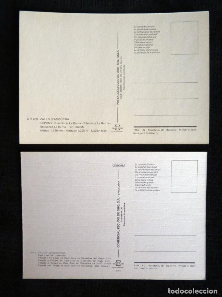 Postales: LOTE DE 5 POSTALES DE ANDORRA. AÑOS 60-70, SIN CIRCULAR - Foto 5 - 166349038