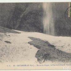 Postales: GAVARNIE. LE PIED DE LA GRANDE CASCADE. FRANQUEADA Y FECHADO EN 1919. Lote 166513489