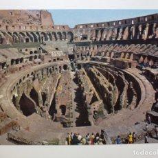 Postales: POSTAL. ITALIA. ROMA. INTERNO COLOSSEO. ED. PLURIGRAF TERNI. NO ESCRITA. . Lote 166873732
