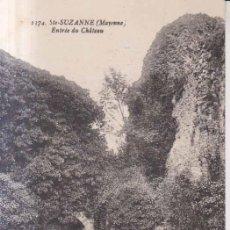 Postales: FRANCIA FRANCIA SAINTE SUZANNEENTRADA DEL CASTILLO 1929 POSTAL CIRCULADA . Lote 167304952