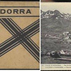 Postales: BLOC * 17 POSTALES ANDORRA * CLAVEROL. Lote 167732476