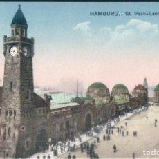Postales: POSTAL ALEMANIA - HAMBURG - ST PAULI LANDUNGSBRUCKEN - VERLAG GEORG STILKE. Lote 167745820