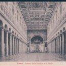 Postales: POSTAL ROMA - INTERNO DELLA BASILICA DI S PAOLO - STA 6. Lote 167925556