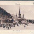 Postales: POSTAL LOURDES - LA BASILIQUE - LL - CIRCULADA. Lote 168075364