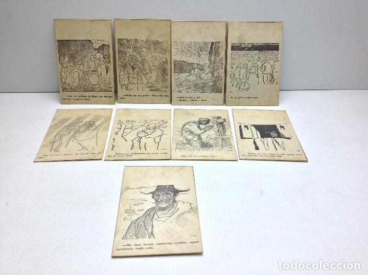 LOTE POSTALES ANTIGUAS PORTUGAL - HISTORIA SATIRICAS DE LA VIDA (Postales - Postales Extranjero - Europa)