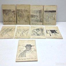 Postales: LOTE POSTALES ANTIGUAS PORTUGAL - HISTORIA SATIRICAS DE LA VIDA. Lote 169407980