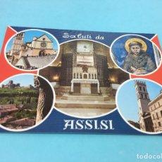 Postales: POSTAL DE ASSISI (ITALIA), CURASADA Y FECHADA EN 1985. Lote 170420708