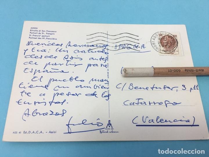 Postales: POSTAL DE ASSISI (ITALIA), CURSADA - Foto 2 - 170420900