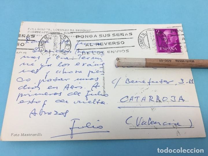 Postales: POSTAL DE COLEGIO DE SAN LORENZO DE BRINDISI, ROMA (ITALIA), CURSADA - Foto 2 - 170420996