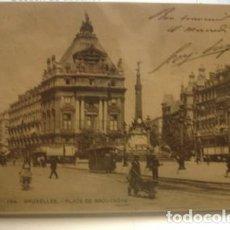Postales: BRUXELLES 194 PLACE DE BROUCKERE - PORTAL DEL COL·LECCIONISTA *****. Lote 171123204