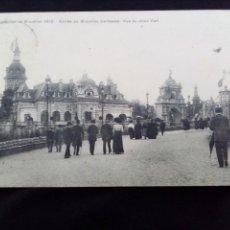 Postais: POSTAL ANTIGUA EXPOSITION DE BRUXELLES 1910. ENTREE DE BRUXELLES KERMESSE. VUE SU CHIEN VERT. Lote 171313173
