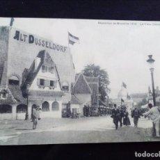 Postais: POSTAL ANTIGUA EXPOSITION DE BRUXELLES 1910.LE VIEUX DUSSELDORF CIRULADA. Lote 171314252