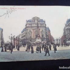 Postales: POSTAL ANTIGUA BRUXELLES PLACE DE BROUCKERE CIRCULADA EN 1908. Lote 171316554