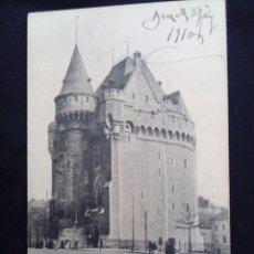Postales: POSTAL ANTIGUA BRUXELLES PORTE DE HAL REVERSO SIN DIVIDIR CIRCULADA 1910. Lote 171317393