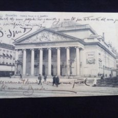 Postales: POSTAL ANTIGUA BRUXELLES THEATRE TOTAL ET LA MONNAIE ESCRITA EN 1908. Lote 171316870