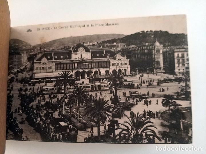 Postales: libro con 20 postales antiguas la cote d'azu vues detachables antiguo - Foto 6 - 171357255