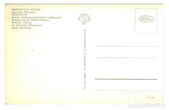 Postales: POSTAL ALEMANIA DDR LEIPZIG - LIBRERÍA ALEMANA - AÑOS 50-60 - SIN CIRCULAR - Foto 2 - 172202377