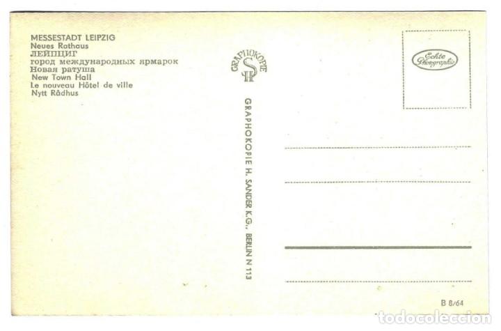 Postales: POSTAL ALEMANIA DDR LEIPZIG - RATHAUS NUEVO AYUNTAMIENTO - AÑOS 50-60 - SIN CIRCULAR - Foto 2 - 172202687