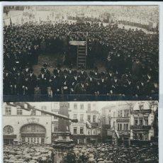 Postales: ALEMANIA BONN - DEMONSTRATIONEN AUF DEM MARKTPLATZ - NACH DEM ERSTEN WELTKRIEG IN DEN JAHREN 1928-29. Lote 172634522