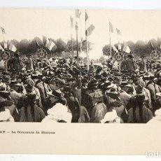 Postales: ANTIGUA POSTAL ESTEREOSCOPICA DE AURAY (FRANCIA). LE CONCOURS DE BINIOUS. SIN CIRCULAR. Lote 173132213