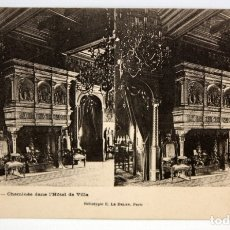 Postales: POSTAL ESTEREOSCOPICA DE ORLEANS - CHEMINEE DANS L'HOTEL DE VILLE. SIN CIRCULAR. Lote 173186952