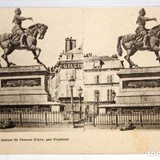 Postales: POSTAL ESTEREOSCOPICA DE ORLEANS - STATUE DE JEANNE D'ARC, PAR FOYATIER. SIN CIRCULAR. Lote 173187174