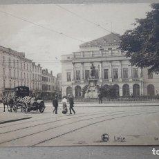 Postales: LIÈGE, THÉÀTRE 1945, FRANQUEADA.. Lote 173212289
