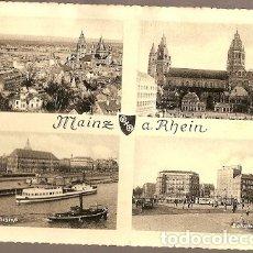 Postales: ALEMANIA & CIRCULADO, SALUDOS DESDE MAINZ AM RHEIN, MAINZ A LISBOA 1957 (6688). Lote 173387615
