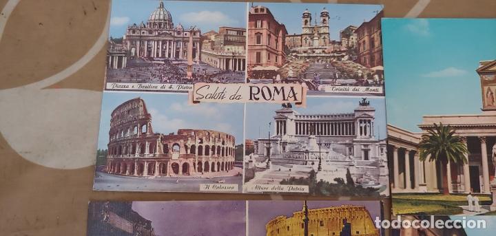 Postales: Lote de 5 postales de Roma sin usar años 60 o 70 - Foto 2 - 173392069