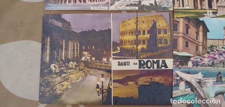 Postales: Lote de 5 postales de Roma sin usar años 60 o 70 - Foto 3 - 173392069