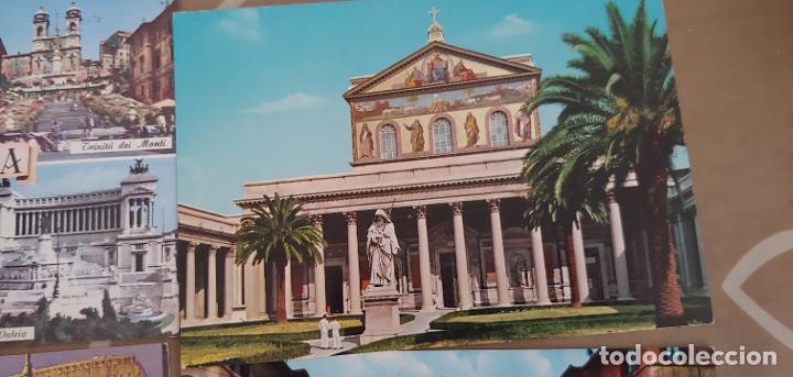 Postales: Lote de 5 postales de Roma sin usar años 60 o 70 - Foto 4 - 173392069