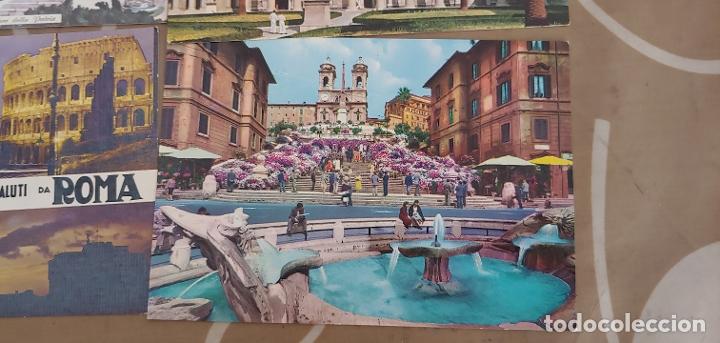 LOTE DE 5 POSTALES DE ROMA SIN USAR AÑOS 60 O 70 (Postales - Postales Extranjero - Europa)