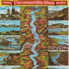 Postales: RHEIN (ALEMANIA). DE MAINZ A KOLN. Lote 173668872