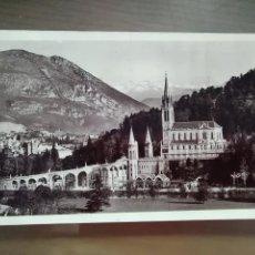 Postales: POSTAL LOURDES LA BASILIQUE ET LE PIC DU JER. Lote 173754340