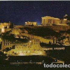 Postales: POSTAL A COLOR ATENAS ACROPOLIS ILUMINADA. Lote 173855389
