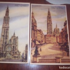 Postales: AMBERES - LOTE DE DOS - CATEDRAL Y CANAL AU SUCRE. Lote 173882688