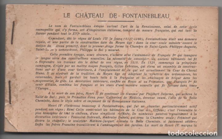 LE CHATEAU DE FONTAINEBLEAU - BLOQUE CON 38 POSTALES - 1939 (Postales - Postales Extranjero - Europa)